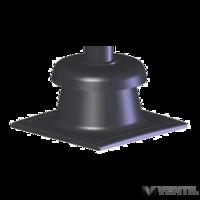 Tricox KF20 kürtő fedél fekete 80mm