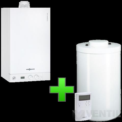 Viessmann Vitodens 100-W 19KW Kondenzációs fűtő gázkazán 150 literes tárolóval