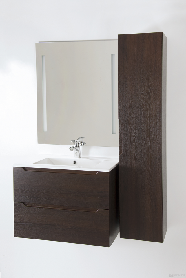 HB Elit 60 fürdőszoba szekrény mosdóval 520x600x460 mm (dió) 237b838f75