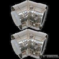 Vaillant 80/125 mm-es koncentrikus homlokzati ív 2 x 45°