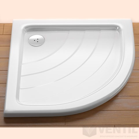Ravak Ronda 80 EX negyedköríves zuhanytálca, 80x80 cm, fehér, akril