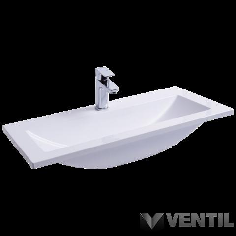 Ravak Clear Wall 800 mosdó, 80x40 cm, szabadon álló/beépíthető, fehér, csaplyukkal