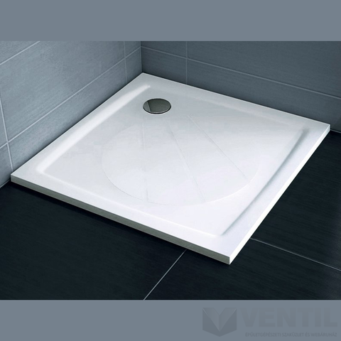 Ravak Perseus Pro 100 négyzet alakú zuhanytálca, 100x100 cm, fehér, öntött műmárvány