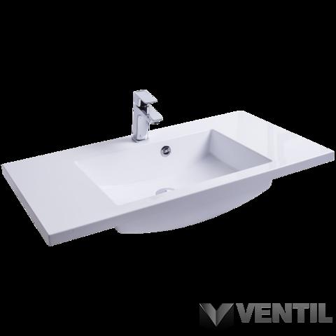 Ravak Comfort 900 mosdó, 90x49 cm, szabadon álló/beépíthető, fehér, csaplyukkal, túlfolyóval