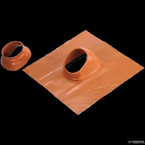 Bosch 60/100 és 80/125 mm-es 25 - 50°-os kivezető idom ferde tetőhöz, vörös tetőcseréphez, műanyag (AZB 923)