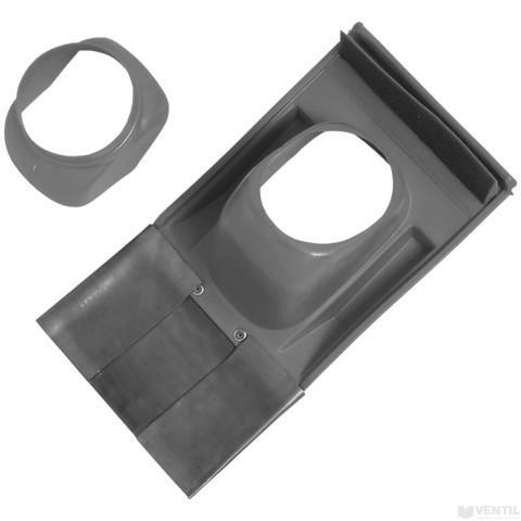 Bosch 60/100 és 80/125 mm-es 25 - 50°-os kivezető idom ferde tetőhöz, fekete műanyag (AZB 925)