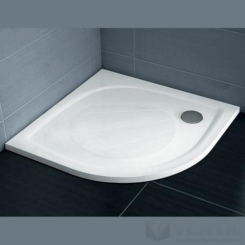 Ravak Elipso Pro 100 negyedköríves zuhanytálca, 100x100 cm, fehér, öntött műmárvány