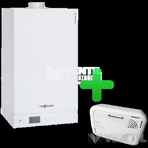 Viessmann Vitopend 100-W 24KW kombi kéményes gázkazán + Honeywell XC100 CO riasztó