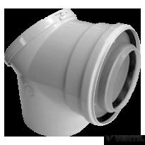 Bosch 80/125 mm-es 90°-os ellenőrző könyök (AZB 938)