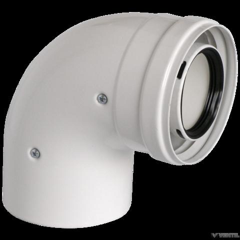 Ariston 80/125 mm-es ALU/PP 90°-os könyökidom