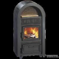 Wamsler SVT Etna öntvénykandalló, íves burkolat, szén/fa kapcsolós, fekete, 9 kW