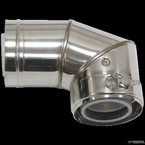 Vaillant 80/125 mm-es koncentrikus homlokzati könyökidom 87°