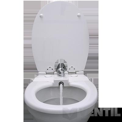 Toilette-Nett 120S bidet WC ülőke poliészter-műgyanta kivitel sima tetővel