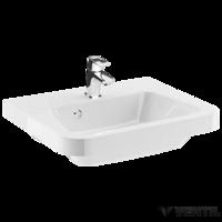Ravak 10° 650 mosdó, 65x48 cm, szabadon álló/beépíthető, fehér öntött műmárvány, csaplyukkal, túlfolyóval