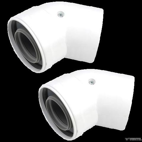 Vaillant 80/125 mm-es PP 45°-os ívpár koncentrikus rendszerekhez