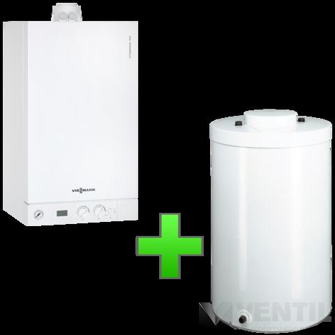 Viessmann Vitodens 100-W 35KW Kondenzációs fűtő gázkazán 100 literes tárolóval