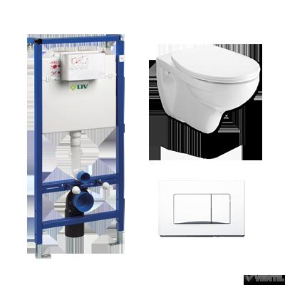 LIV JOG komplett lábonálló WC szett (WC csésze + Aplite nyomólap + tartály)