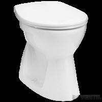 Alföldi Bázis 4032 fehér, lapos öblítésű, alsó kifolyású, bucis kivitel, padlóra szerelhető WC csésze