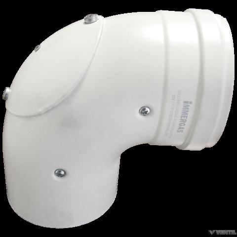 Immergas 80/125 mm-es, könyök idom nyitható vizsgáló nyílással